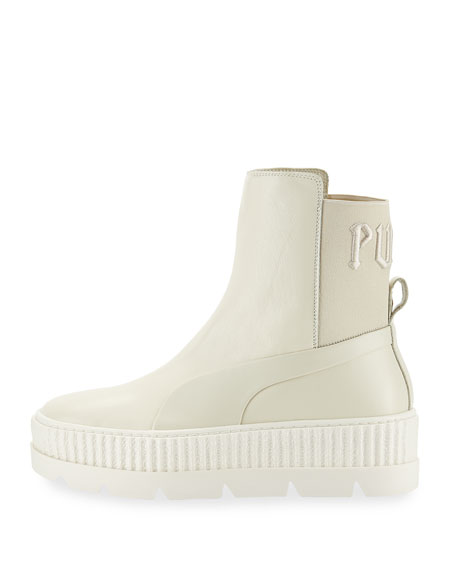new product 07c22 40c35 Platform Chelsea Sneaker Boot White