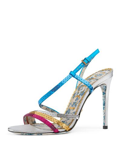 Haines Colorblock Sequin Sandal
