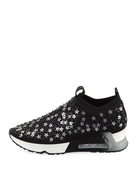 Star-Embellished Knit Sneakers