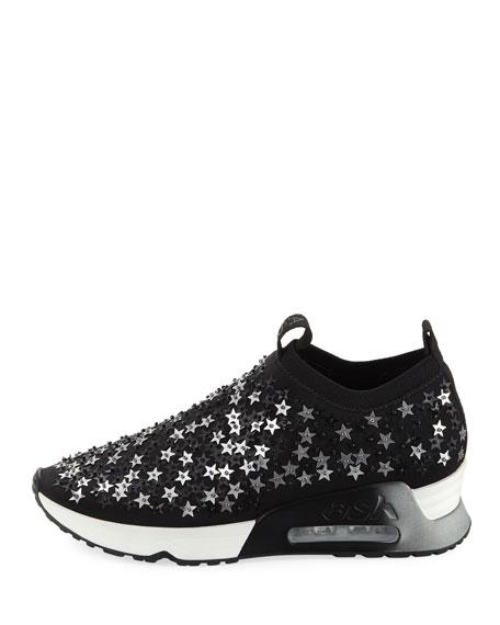 Star-Embellished Knit Sneaker