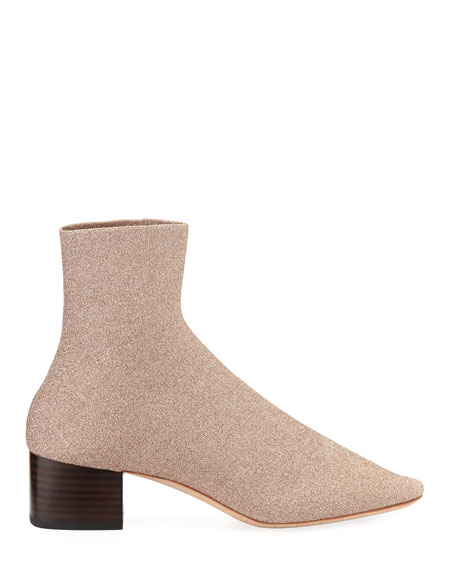 Carter Metallic Knit Sock Bootie