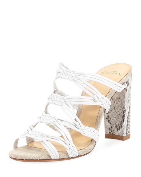 Monalissa Braided Leather Mule Sandal
