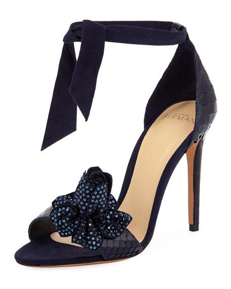 Clarita Blossom Ankle-Tie Sandal