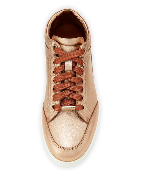 Miami Metallic Leather Sneakers