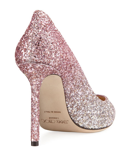 1eff71cc6ef Jimmy Choo Romy Degrade Glitter 100mm Pump
