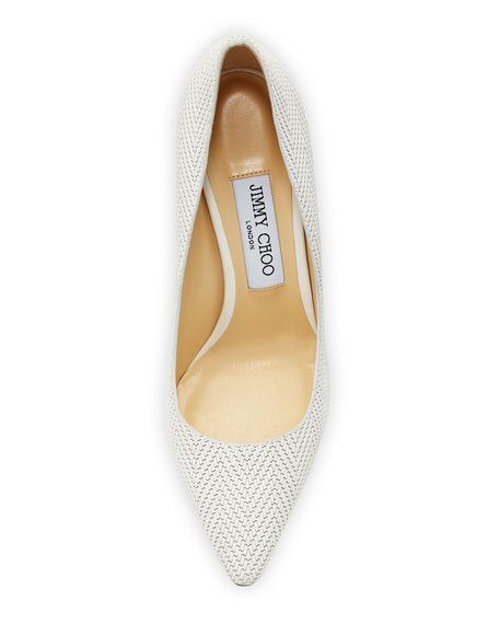 Romy Woven Leather 100mm Pump
