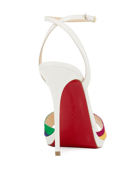 Naseeba Strappy Rainbow Red Sole Sandal