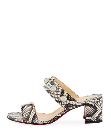Simple Bille Snakeskin Red Sole Sandal
