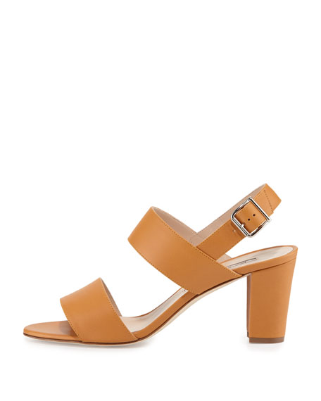 Khan Leather Double-Band Sandal