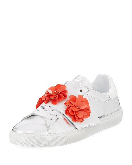 Image 1 of 1: Newman Flower-Strap Sneakers