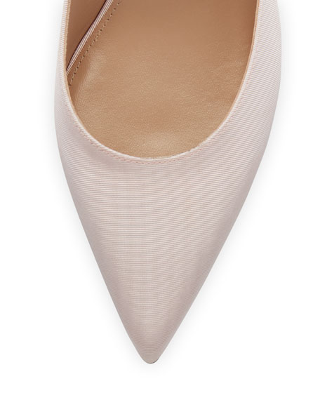 Primrose Point-Toe Grosgrain Flower Pump