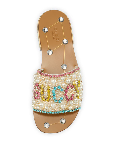 Lupe 20mm Guccy Jeweled Leather Slide