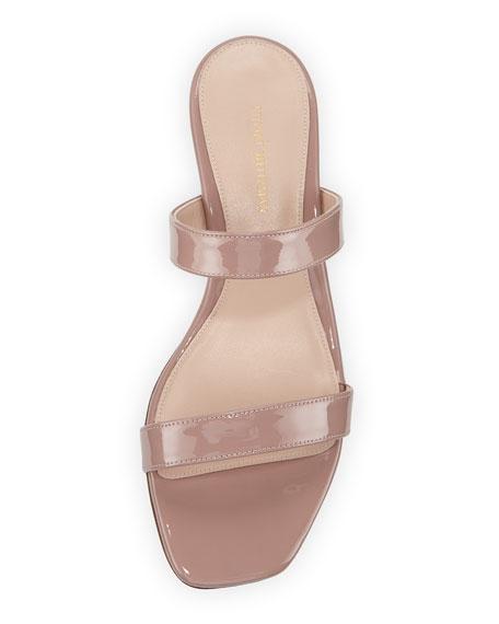 a3ce2b7d4fc5 Stuart Weitzman Ava Patent Low-Heel Slide Sandal