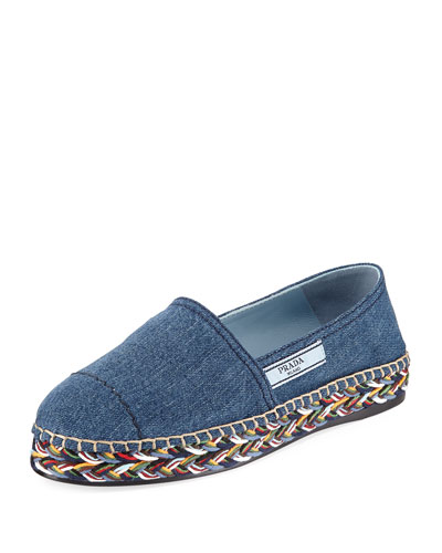Flat Denim Slip-On Espadrille