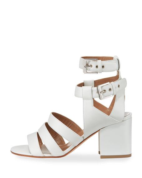 Rela Strappy Leather Block-Heel Sandal