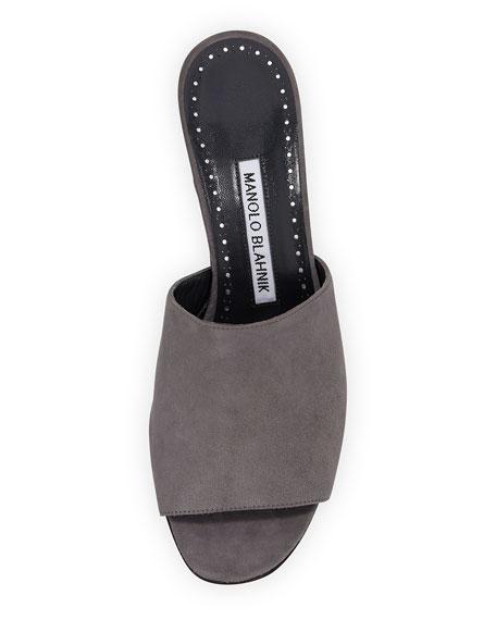 Rapallato Suede Slide Sandal