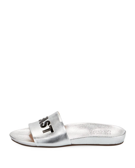 Out East Metallic Slide Sandal