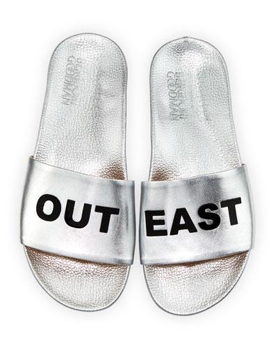 Out East Metallic Slide Sandal