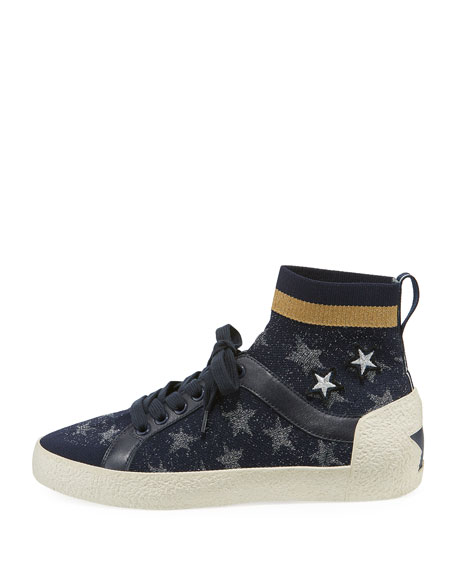 Ninja Star-Sock Lace-Up Sneakers