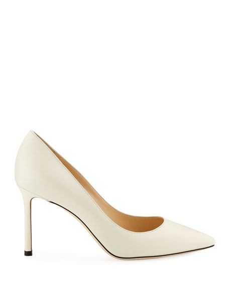 Romy Pointed Kid Leather Pumps