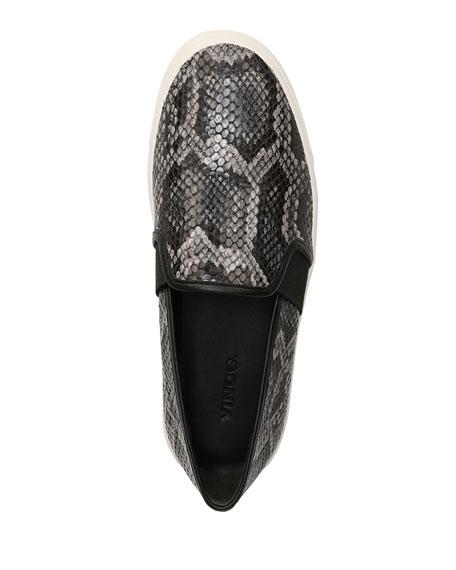 Blair Snake-Print Platform Sneakers