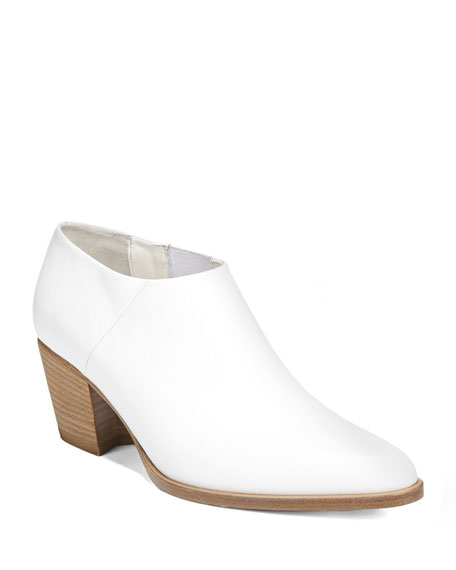 VINCE Women'S Hamilton Mid-Heel Ankle Booties in White