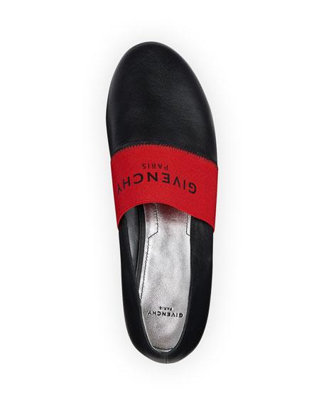 238334c3ca9c Givenchy Bedford Logo Leather Smoking Slipper Flat