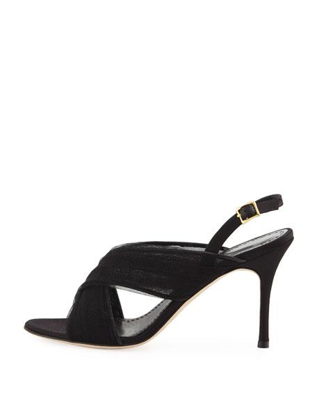 Drapia Mesh Slingback Sandal