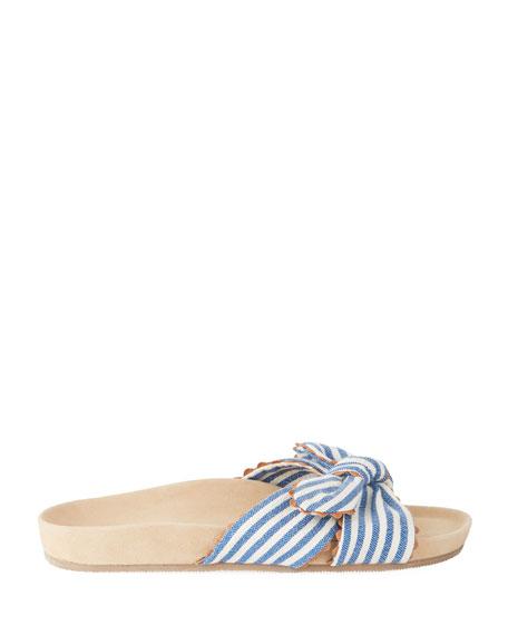 Beattie Knotted Striped Pool Slide Sandal