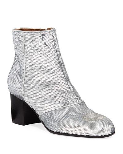 Selda Sequined Ankle Booties