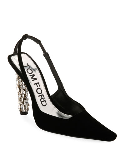 Velvet Crystal-Heel Pumps