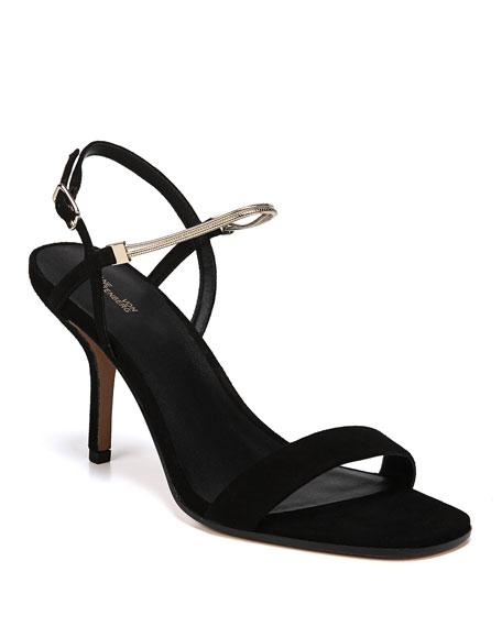 Diane von Furstenberg Frankie Suede Sandals with Chain
