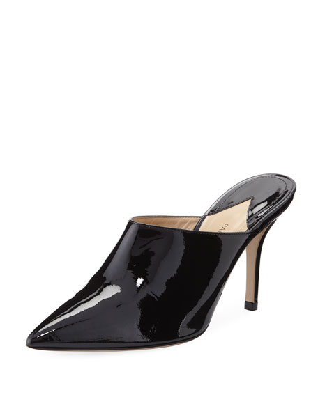 Certosa Point-Toe Patent Leather Mules