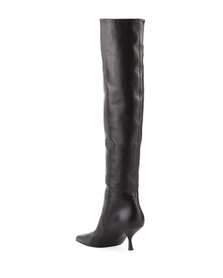 Bourgeoisie Leather Over-the-Knee Boot