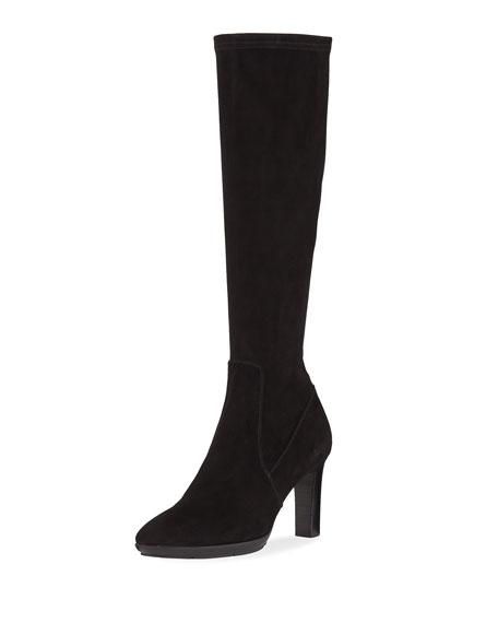 Rhumba II Stretch Suede Knee Boots