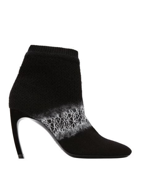 5b4e5c5cb6d4 Nicholas Kirkwood Kim Ombre Felt Curve-Heel Ankle Boots
