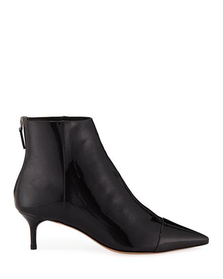 Kittie Leather/Patent Point-Toe Booties