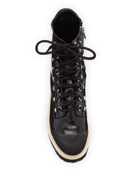 Lace-Up 40mm Combat Boots