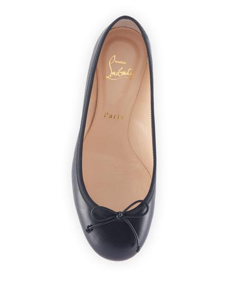 9146ec2b0ca Christian Louboutin La Massine Leather Spike-Heel Red Sole Ballet Flats
