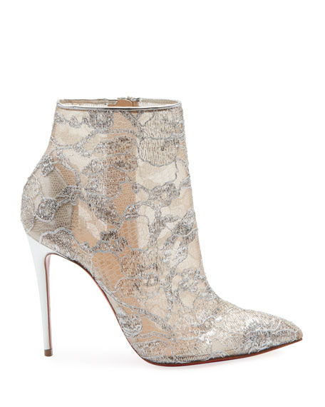 Gipsybootie Metallic Lace Red Sole Ankle Boot
