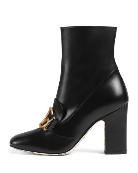 Smooth Leather GG Booties