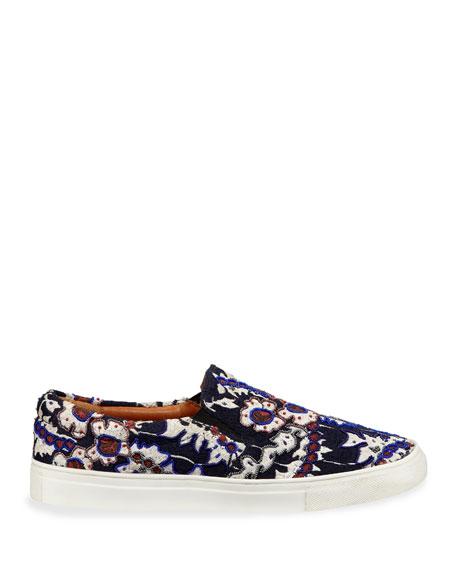 Karita Embroidered Slip-On Sneakers