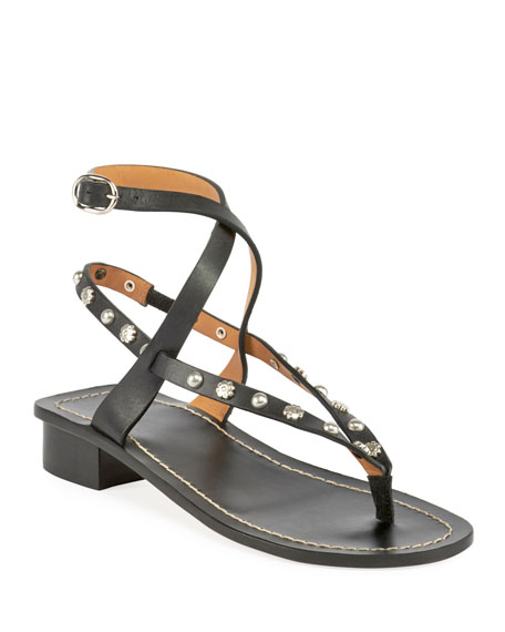 Jings Studded T-Strap Sandal