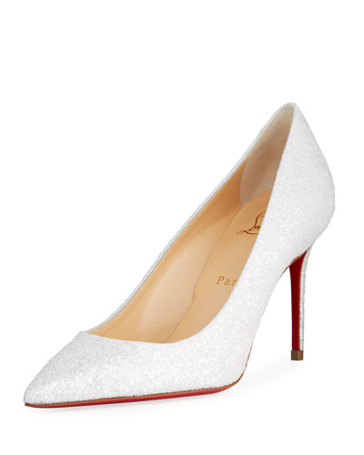 Decolette 85mm Glitter Red Sole Pumps