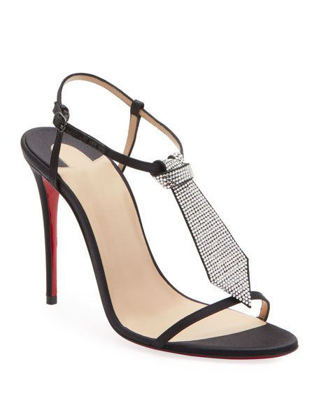 Christian Louboutin T-Cab Tie Red Sole Sandals