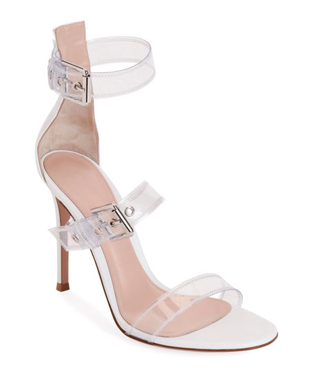 Gianvito Rossi Plexi Three-Buckle Sandals