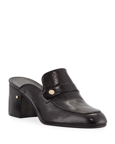 Thelma 55mm Block-Heel Mule Loafers