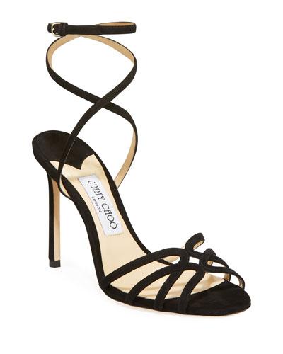 Mimi 100mm Suede Sandals