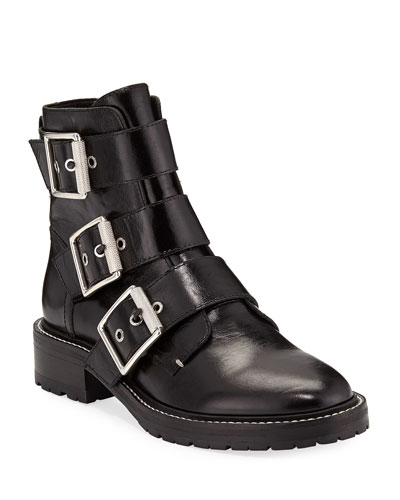Cannon Leather Buckle Boots