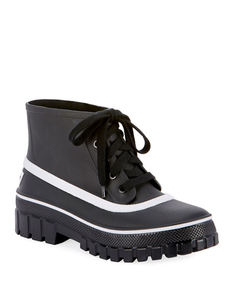 Givenchy Lace-Up Lug-Sole Ankle Booties